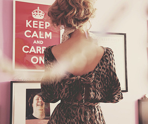 girl, fashion, and keep calm image