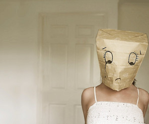 sad, girl, and mask image