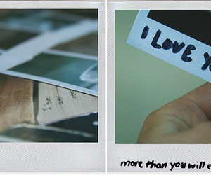 polaroid and love image