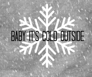 baby, cold, and snow image