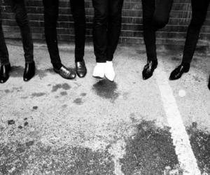 shoes, the horrors, and black and white image