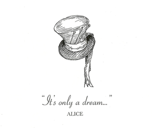alice, Dream, and alice in wonderland image