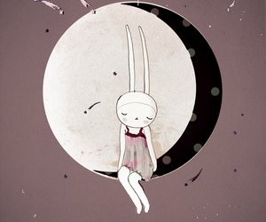 girl and moon image