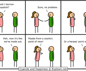 comic and herpes image