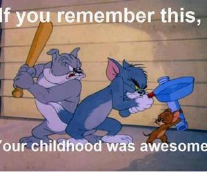 childhood, tom and jerry, and awesome image