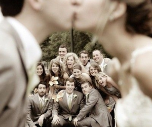 bridal party, kiss, and must have image
