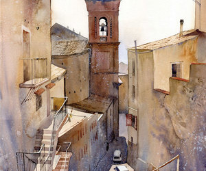 watercolor, art, and painting image