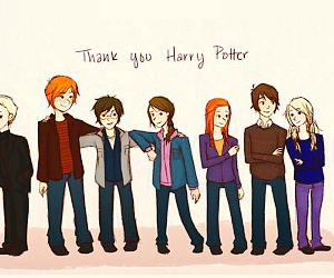 harry potter, draco malfoy, and ginny weasley image