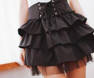skirt, fashion, and black image