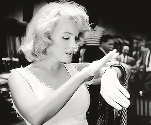 black and white, blonde, and Marilyn Monroe image