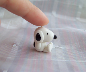 polymer clay, snoopy, and cute image