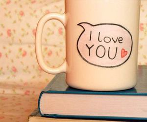 love, book, and cup image