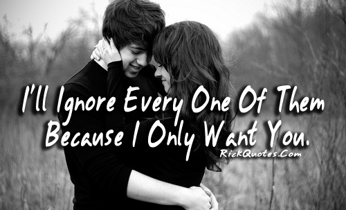 love quotes only want you on we heart it