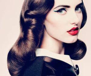 hair, makeup, and vintage image