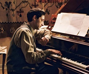 the pianist, adrien brody, and piano image