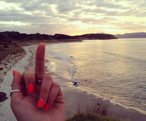 beach, finger, and hand image