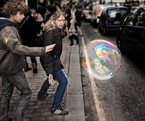 bubble, street, and busy image