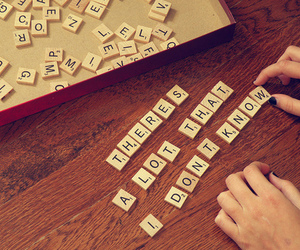 quote, text, and scrabble image