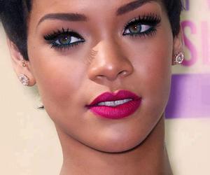 rihanna, eyes, and makeup image