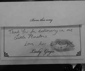 Lady gaga, little monsters, and born this way image
