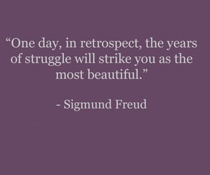 quote, sigmund freud, and struggle image