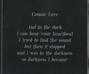 cosmic love, florence and the machine, and black and white image