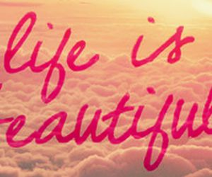 beautiful, life, and pink image