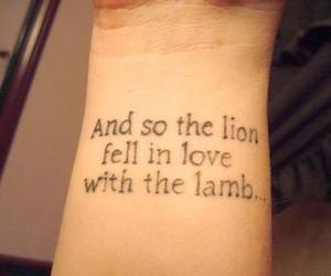 tattoo, twilight, and lion image