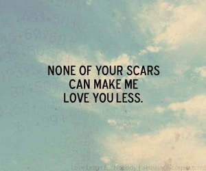 love, scars, and quotes image