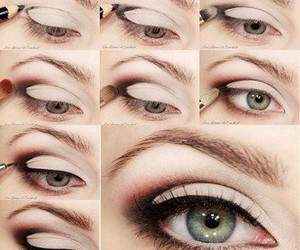 eye liner, eye makeup, and eye shadow image