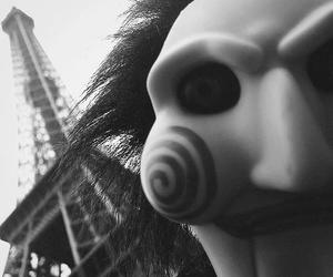 paris, saw, and black and white image