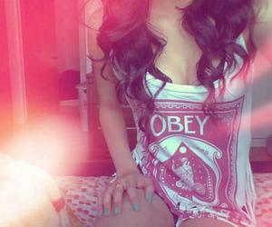 girl, obey, and hair image
