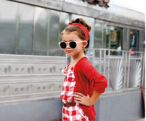 girl, red, and kids image