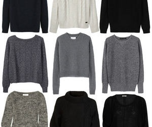 sweater, black, and grey image