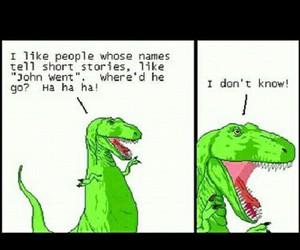 dinosaur, random, and stupid image