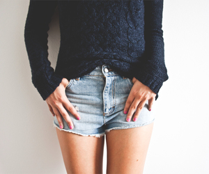 shorts, sweater, and style image