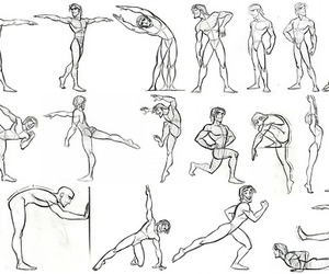 anatomy, character design, and poses chart image
