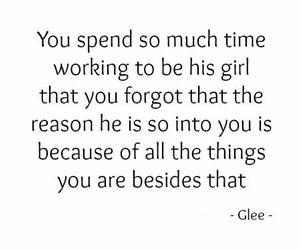 girl, glee, and quote image