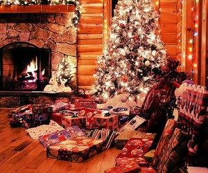 christmas, winter, and present image