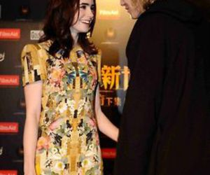 Jamie Campbell Bower, lily collins, and love image