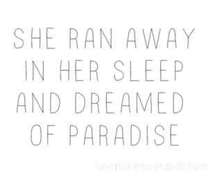paradise, Dream, and sleep image