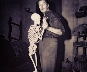 vincent price, skeleton, and horror image
