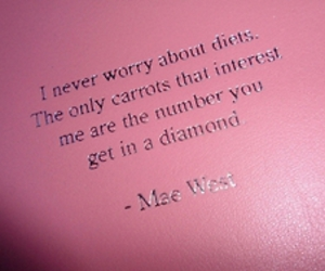 diamond, quote, and pink image