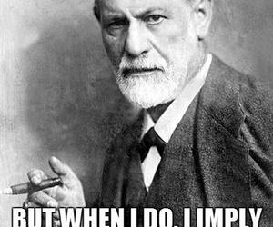 black & white, freud, and funny image