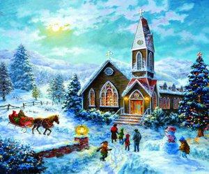 art, illustration, and christmas image