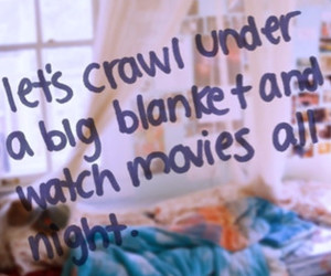 love, quote, and blanket image