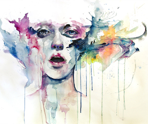 art, painting, and watercolor image