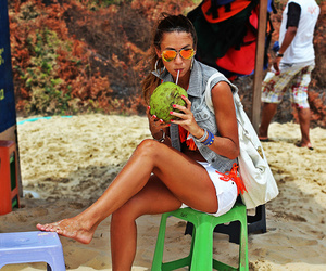 beach, coconut, and tan image
