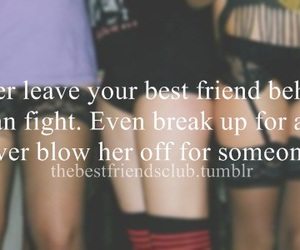 behind, best friends, and break up image