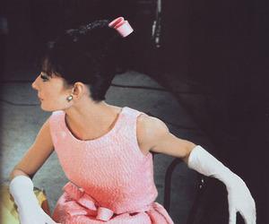 audrey hepburn, pink, and dress image